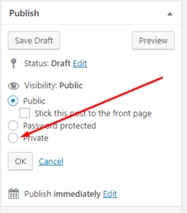 private post in wordpress