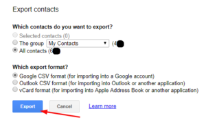 export email list